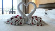 Cisnes con 2+2 toallas • Towels swans