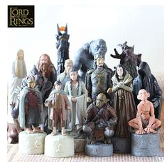 The Lord of the Rings Hobbits Figures 15 pcs/lot Gandalf Elf prince guru etc PVC Action Figure Collection Model toy