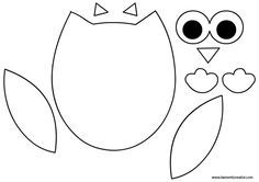 Owl Crafts, Diy And Crafts, Arts And Crafts, Owl Patterns, Applique Patterns, Quiet Book Templates, Felt Material, Baby Owls, Felt Diy