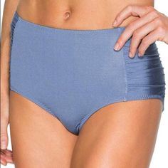 NWOT Athleta high waisted bikini bottom Athleta blue bikini bottom Athleta Swim Bikinis