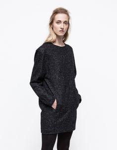 Wool Blend Boucle Dress