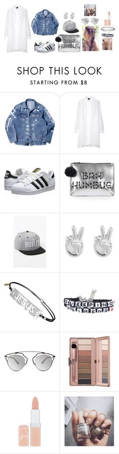 """""""Little Wind"""" by hien-anhhs on Polyvore featuring mode, McQ by Alexander McQueen, adidas Originals, Topshop, Hurley, Rock 'N Rose, Christian Dior, Rimmel et Floss Gloss"""