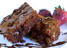 Perfect Lenten Chocolate Brownies (Recipe in comments) No Egg Desserts, Greek Desserts, Greek Recipes, Dessert Recipes, Vegan Desserts, Cake Recipes, Tasty Brownie Recipe, Brownie Recipes, Greek Dishes