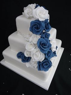This, except add a fondant ribbon around the base of each layer to give it a little more color.