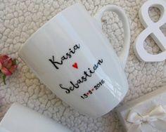 Kubki z okazji slubu! #mugs #mug #wedding #idea #husband #wife #design #diy #handpainted #zona #maz #kubki #giftidea #prezent