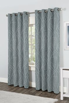 Exclusive Home Finesse Grommet Top Window Curtain Panels, Steel Blue, Sold as Set of 2/Pair: Amazon.ca: Home & Kitchen
