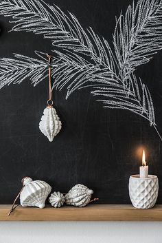 Madam Stoltz winter collection vinter inspiration decoration - Make Chalk Board Decoration