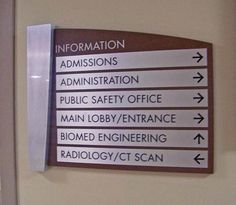 Hospital Office Sign