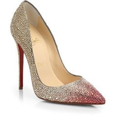 Christian Louboutin Ombré Crystal Leather Pumps Fall 2014 #CL #Louboutisn #Heels