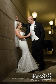 Cute sexy flirty photo #Michigan wedding #Mike Staff Productions