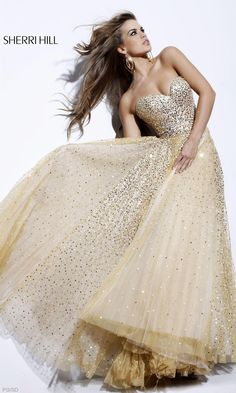 One day i will need this dress for something! Long Strapless Sweetheart Sequin Dress $700