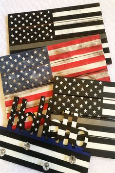 Find the perfect gift for your favorite American at www.mpaledesigns.etsy.com  #lawenforcement #policeofficer #backtheblue #americanflag #correctionsofficer #correctionalofficer #thinblueline #thinsilverline #rusticamericanflag #farmhousedecor #america