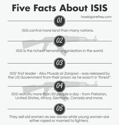 Five #Facts about #ISIS  #terrorism #violence #facts #themoreyouknow #shocking