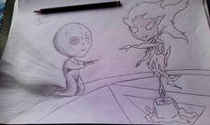 O boneco e a salamandra by Lucas-Campos.deviantart.com on @DeviantArt