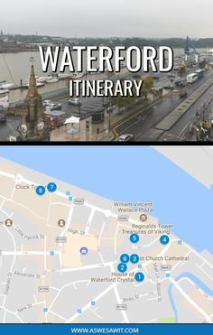 What to see and do in Waterford Ireland - a 1-day itinerary to see the best of Ireland's oldest city, including Waterford crystal, the Treasures of Ireland, Bishop's Palace, and more. #europe #ireland #itineraries #traveltips