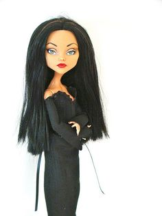 Morticia - Monster HIgh Repaint by Marina's art dolls, via Flickr