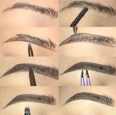 Make Up; Make Up Looks; Make Up Augen; Make Up Prom;Make Up Face; Makeup Steps Source by Eyebrow Makeup Tips, Makeup Steps, Lip Makeup, Eyebrow Pencil, Makeup Tricks, Makeup Mascara, Eyeshadow Pencil, Eyebrow Tinting, Makeup Eyebrows
