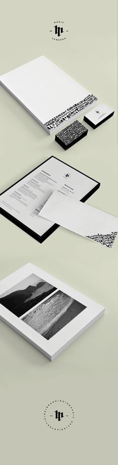Just not too sure about the small type on bottom and top -- gorgeuos Self Branding by Maria Vaquero, via Behance