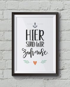 """""""Here we are at home"""" Art Print, Family Poster Life Lesson Quotes, Life Quotes, Family Poster, Reproduction, Engagement Ring Cuts, Cool Walls, Golden State Warriors, Rwby, Decoration"""