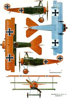 Fokker Dr I' fighter aircraft used by the Luftstreitkräfte (Imperial German Air Service) during the