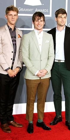 Foster the People!  3 good looking guys.  They know how to keep it fresh and take care of their skin.