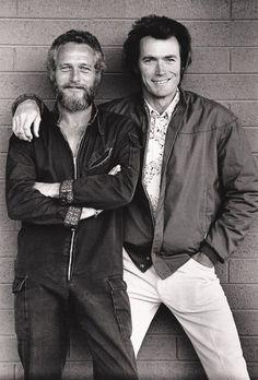 Paul Newman ve Clint Eastwood.