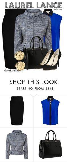 """""""Arrow"""" by wearwhatyouwatch ❤ liked on Polyvore featuring Roland Mouret, FAUSTO PUGLISI, L.K.Bennett, Alexander McQueen, Balmain, Kate Spade, television and wearwhatyouwatch"""