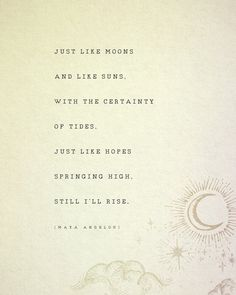Maya Angelou Still I Rise quote print poetry by Riverwaystudios