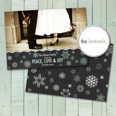 Christmas Card Templates  Holiday Sparkle by thebeamarie on Etsy, $5.00