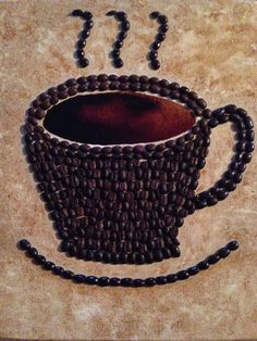 12 X 16 3D Canvas Coffee Cup Painting Original by PieAlaFaux, $59.00
