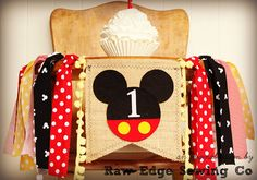 MICKEY MOUSE Birthday Age High Chair Highchair Birthday Banner