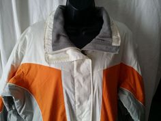 Black Dot Pacific Trail Snowboard/Ski Jacket Coat Size Women Large white orange  #PacificTrail #SkiJacket