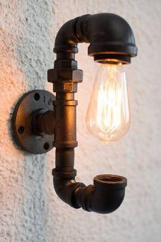 DIY: Nice Industrial Pipe Lamp Design Tutorial Table & Desk Lamps