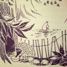 Mumin - Moomin by Tove Jansson Moomin Valley, Tove Jansson, Hedgehogs, Children's Book Illustration, Art Forms, Illustrators, Fairy Tales, Abstract, Drawings
