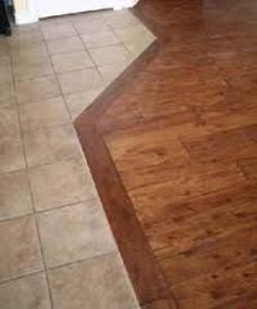 ideas for wood tile transition kitchen benjamin moore Wood Tile Floors, Kitchen Flooring, Hardwood Floors, Kitchen Wood, Kitchen Tiles, Kitchen Design, Tile To Wood Transition, Transition Flooring, Custom Woodworking