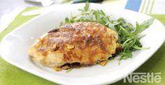 Pollo con nachos al horno #recetas #nestlecocina