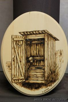 Woodburning of Outhouse