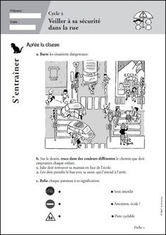 Apprendre à porter secours Cycle 2, French Teacher, French Language, Fun Learning, Pharmacy, Pixel Art, Wood Crafts, Worksheets, Transportation