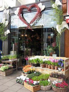 Angel Flowers - display by Hells Bells Flower Shop Interiors, Garden Center Displays, Angel Flowers, Flower Shop Design, Valentines Flowers, Flower Market, Flower Shops, Flower Stands, Garden Shop