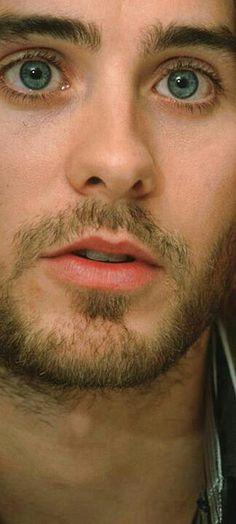 those eyes, that mouth... sweet Jesus. Jared Leto