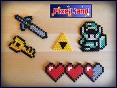 Zelda set hama perler pixel art by Pix'L'and