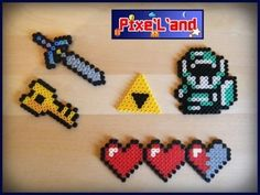 Zelda set hama perler pixel art by Pix'L'and