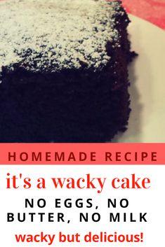 Wacky Cake Recipe no butter no eggs no milk - Moms Treasure Chest Cheese Recipes, Appetizer Recipes, Real Food Recipes, Baking Recipes, Cake Recipes, Dessert Recipes, Great Desserts, Delicious Desserts, Yummy Food