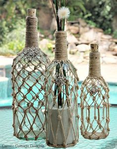 35 Creative Ways To Turn Old Wine Bottles Into Stunning Home Décor Accessories. - http://www.lifebuzz.com/wine-bottles/