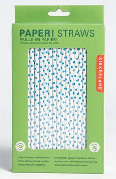 Kikkerland Design Biodegradable Straws
