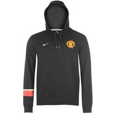 MANCHESTER UNITED NERO ROSSO HOODY 2