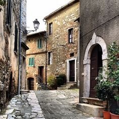 Street in San Casciano dei Bagni, by toomuchtuscany, province of Florence Tuscany