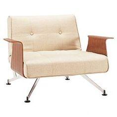 Clubber Arm Chair in Natural Khaki