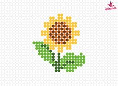 22 Creations in Pyssla: free patterns for the beads to be ironed - Inspiring Cross Stitch Beginner, Tiny Cross Stitch, Easy Cross Stitch Patterns, Cross Stitch Bookmarks, Cross Stitch Cards, Cross Stitch Flowers, Cross Stitch Designs, Cross Stitching, Cross Stitch Embroidery