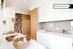 Kuchnia styl Skandynawski - zdjęcie od LESINSKA CONCEPT - Kuchnia - Styl Skandynawski - LESINSKA CONCEPT Cabinet, Storage, House, Furniture, Spaces, Home Decor, Kitchen Ideas, Projects, Open Kitchens